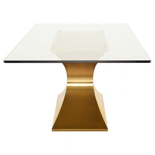 praetorian dining table side view