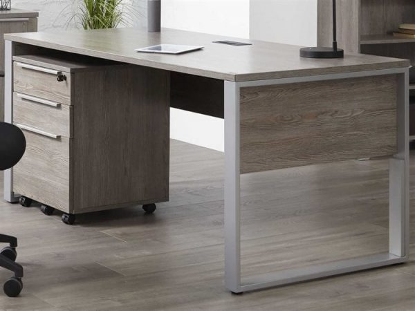 gray desk product staged image
