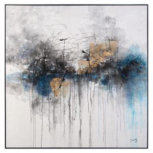 john richard abstract blue and gold smokey gray art