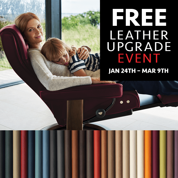 Stressless Free Leather Upgrade Offer (Valid From: January 24, 2020 to March 9, 2020)