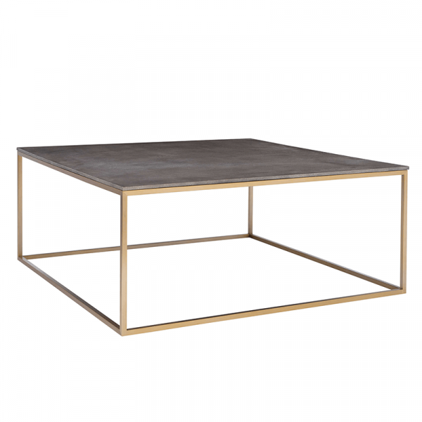 charcoal and brushed brass coffee table