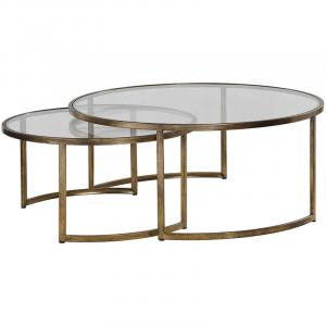coffee table round set image description