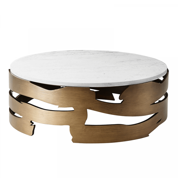 round marble top cocktail table