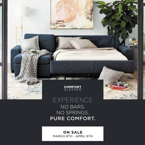 10% off all Comfort Sleepers! (Valid From: March 6, 2020 to April 6, 2020)