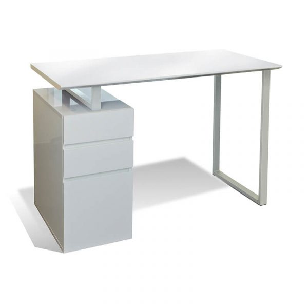 white desk with drawers product image