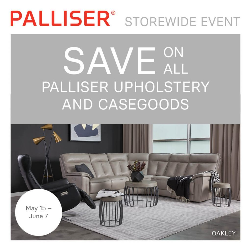 PALLISER UPHOLSTERY (Valid From: May 15, 2020 to June 7, 2020)