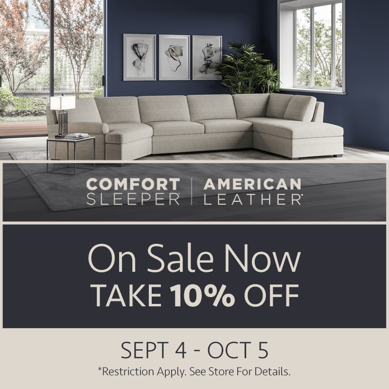 American Leather Comfort Sleeper Sale (Valid From: September 4, 2020 to October 5, 2020)