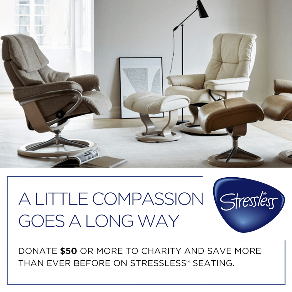 Stressless Charity Offers (Valid From: September 4, 2020 to September 30, 2020)