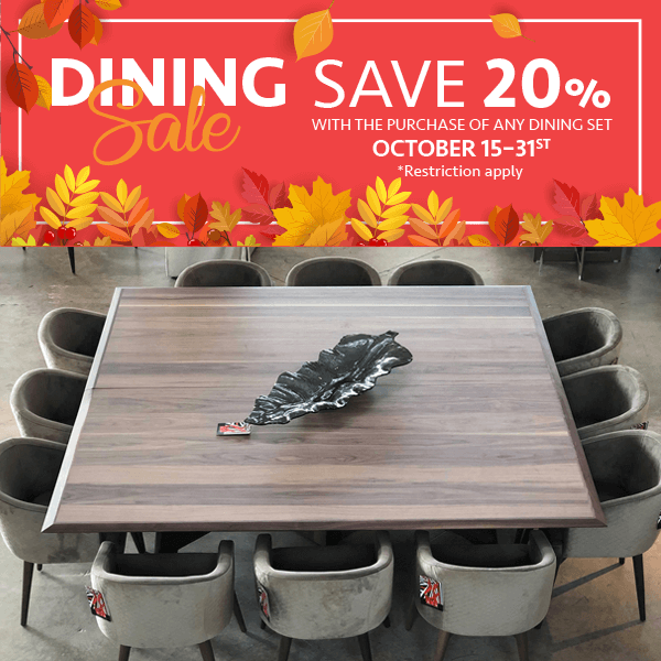 Dining Sale 2020 (Valid From: October 15, 2020 to October 31, 2020)