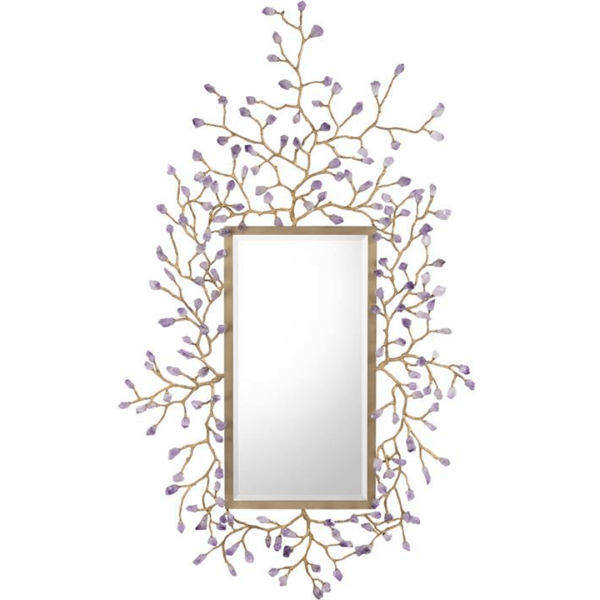 Budding Amethyst Mirror John Richard