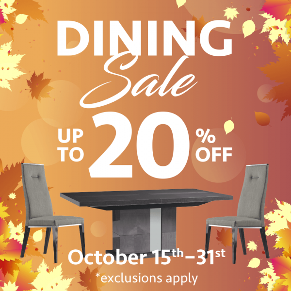 Dining Sale 2021 (Valid From: October 15, 2021 to October 31, 2021)